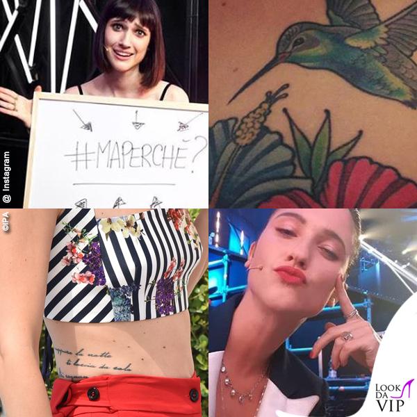 Lodovica Comello tatuaggi