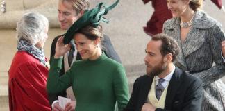 Matrimonio Eugenia Pippa Middleton abito Emilia Wickstead clutch Charlotte Olympia 1