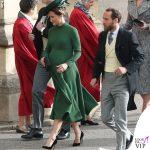Matrimonio Eugenia Pippa Middleton abito Emilia Wickstead clutch Charlotte Olympia 3