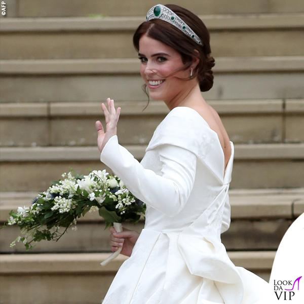 8a63efc4f13b Matrimonio Eugenia abito da sposa Piter Pilotto - Look da Vip