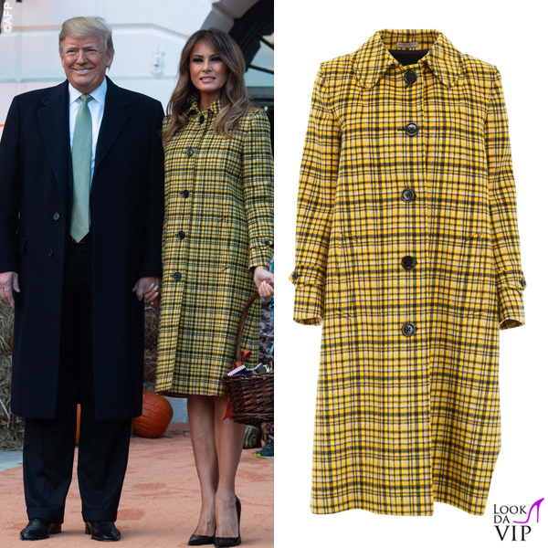 Melania Trump Halloween cappotto Bottega Veneta 11