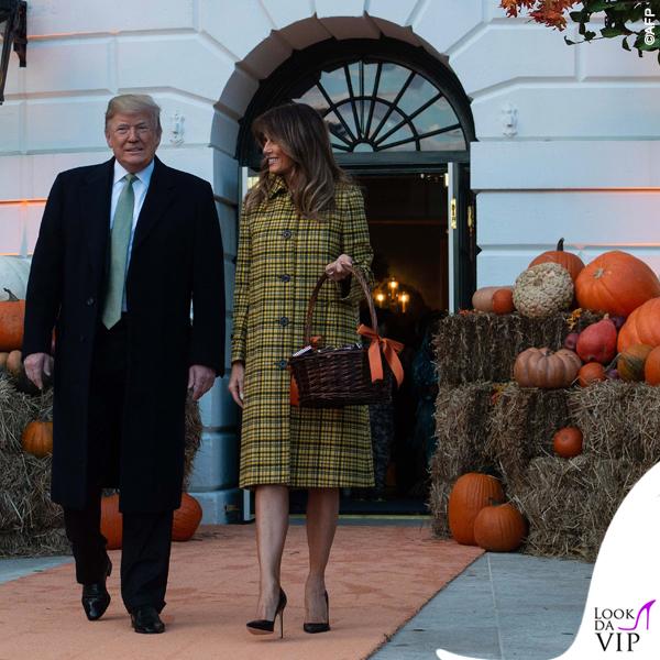 Melania Trump Halloween cappotto Bottega Veneta 4