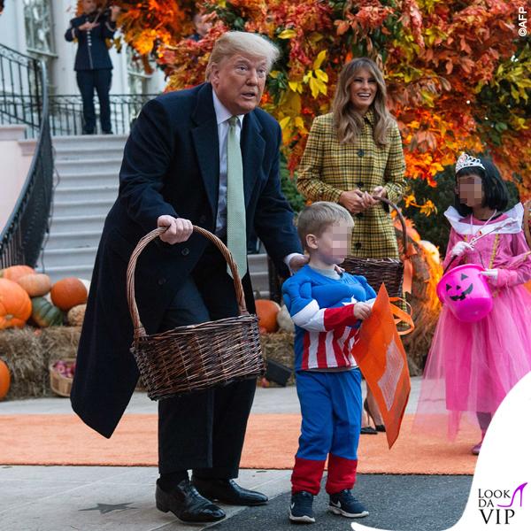 Melania Trump Halloween cappotto Bottega Veneta 5