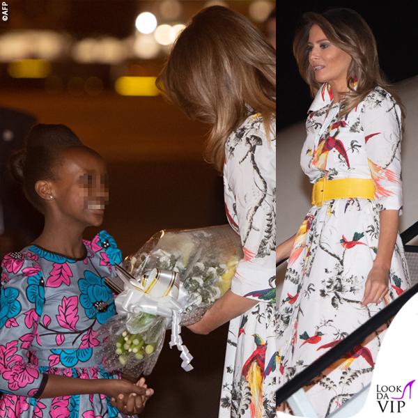 Melania Trump abito Erdem