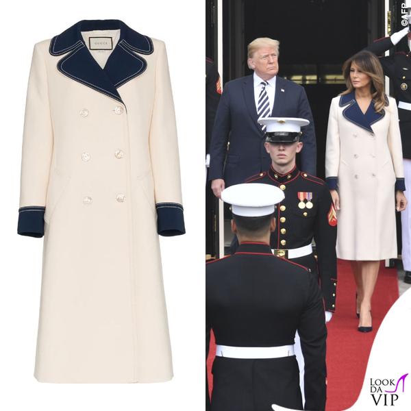 Melania Trump cappotto Gucci 2