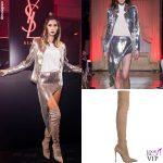 Melissa Satta completo Genny stivali Le Silla 2