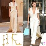 Sofia Richie abito Ashi gioielli Tiffany sandali Zanotti 2
