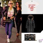 Wanda Nara t-shirt Gucci borsa Chanel scarpe Chanel piumino Moncler