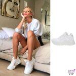 Alessia Marcuzzi sneakers Voile Blanche 2