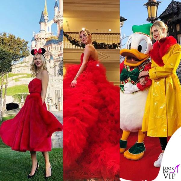 Chiara Ferragni madrina Disney abiti Giambattista Valli e Sara Battaglia 2