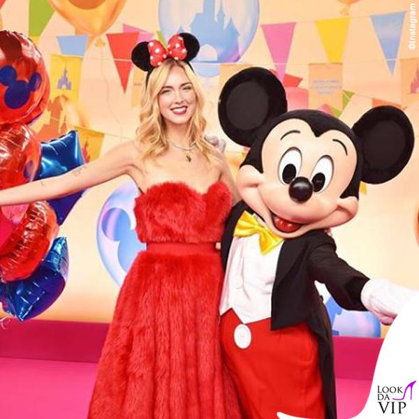 Chiara Ferragni madrina Disney abito Sara Battaglia pump Dior 2