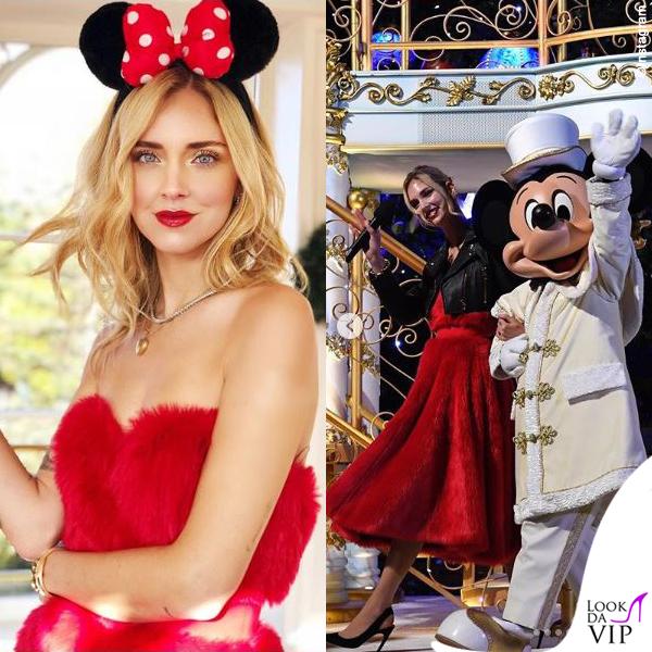 Chiara Ferragni madrina Disney abito Sara Battaglia pump Dior