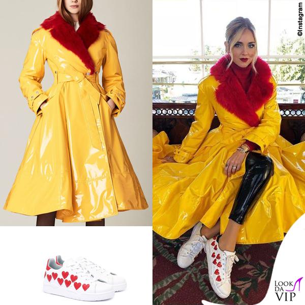 Chiara Ferragni madrina Disney cappotto Sara Battaglia sneakers Chiara Ferragni Collection 2