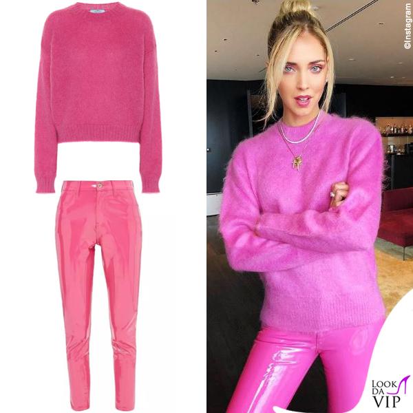 Chiara Ferragni maglione Prada pantaloni Love Labels 2