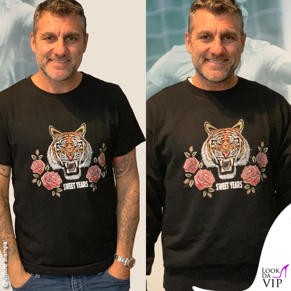 Christian Vieri tshirt felpa Sweet Years