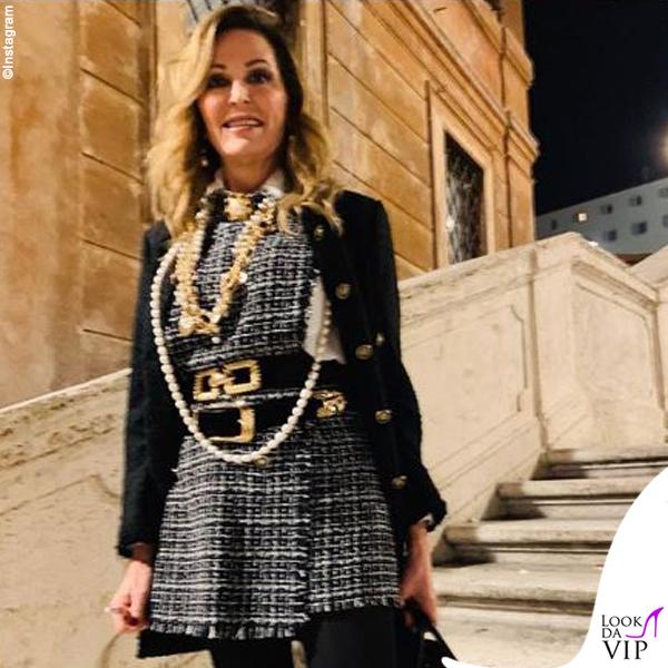 Daniela Santanchè tuta Zara borsa Hermes cintura Versace