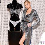 Elsa Hosk Victoria's Secret Fantasy Bra abito Attico scarpe Christian Louboutin