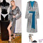 Elsa Hosk Victoria's Secret Fantasy Bra abito Attico scarpe Christian Louboutin 3
