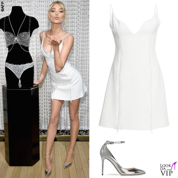 Elsa Hosk Victoria's Secret Fantasy Bra abito David Koma scarpe Jimmy Choo 4