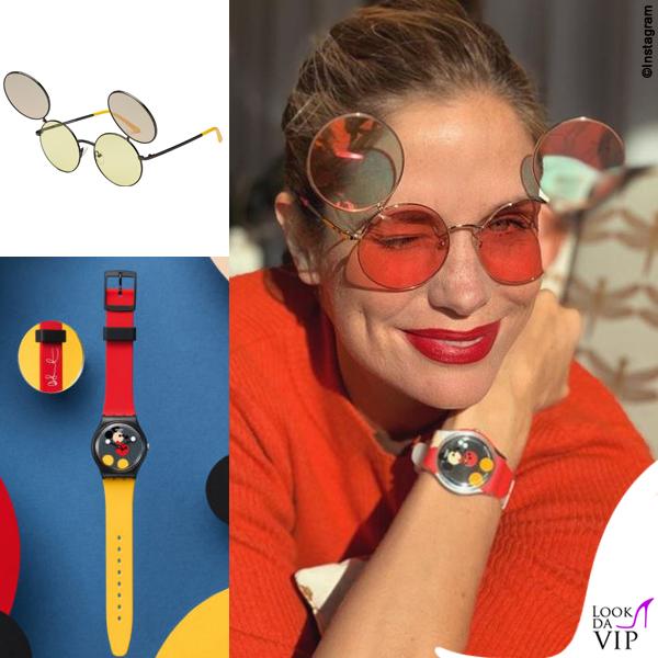 Filippa Lagerback occhiali Italian Independent orologio Swatch 2
