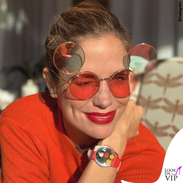 Filippa Lagerback occhiali Italian Independent orologio Swatch