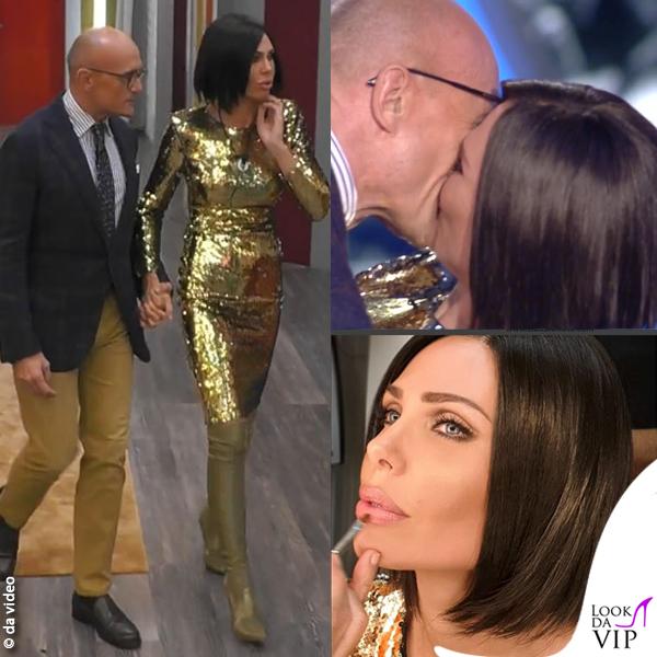 Ilary Blasi 9 puntata GfVip abito Cinzia Diddi stivali Casadei