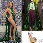 Jennifer Lopez abito Valentino sandali Christian Louboutin 2
