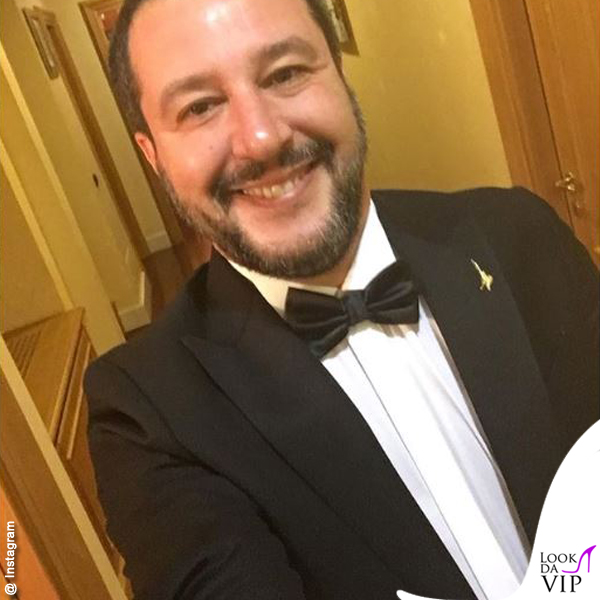 Matteo Salvini cena Alis smoking