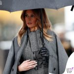 Melania Trump cappotto Dior