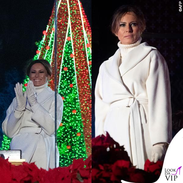 Melania Trump cappotto Max Mara