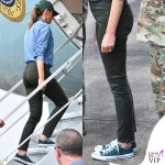 Melania-Trump-sneakers-verdi-Converse-All-Star