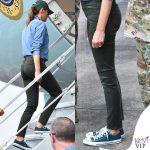 Melania-Trump-sneakers-verdi-Converse-All-Star