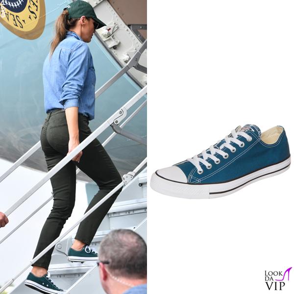 Melania-Trump-sneakers-verdi-Converse-All-Star 2