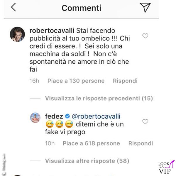 Roberto Cavalli critica Chiara Ferragni su Instagram