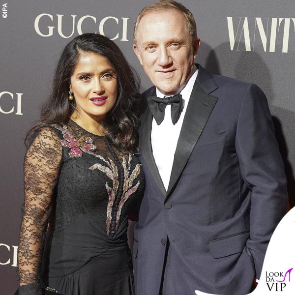 Salma Hayek abito Gucci