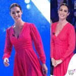 Silvia Toffanin abito Celeste Pisenti stivali Greymer 2
