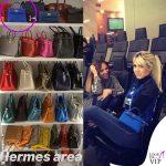 Wanda Nara borsa Hermes mini Kelly