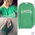 Wanda Nara maglia Alberta Ferretti Wednesday borsa Hermes INSTAGRAM