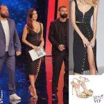 Belen Rodriguez 2 puntata Tu si que vales outfit Mur Mur scarpe Twinset
