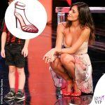 Belen Rodriguez 3 puntata Tu si que vales body Blumarine gonna Uel Camilo scarpe Alevi