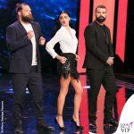 Belen Rodriguez TSQV 6 puntata body gonna Elisabetta Franchi scarpe Brian Atwood 1