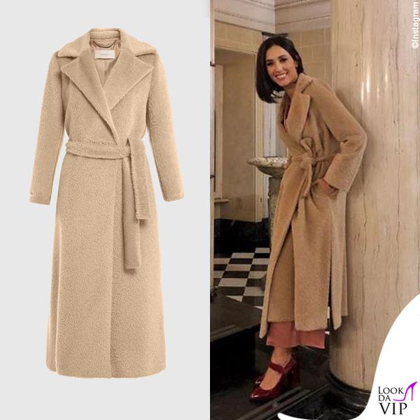 Caterina Balivo cappotto Marella 2