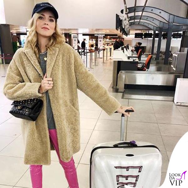 Chiara Ferragni cappotto di pelo 2