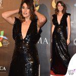 Elisa Isoardi abito nero paillettes Elisabetta Franchi