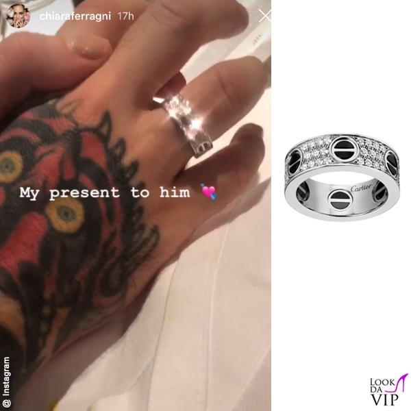 Fedez anello Cartier regalo di Chiara Ferragni