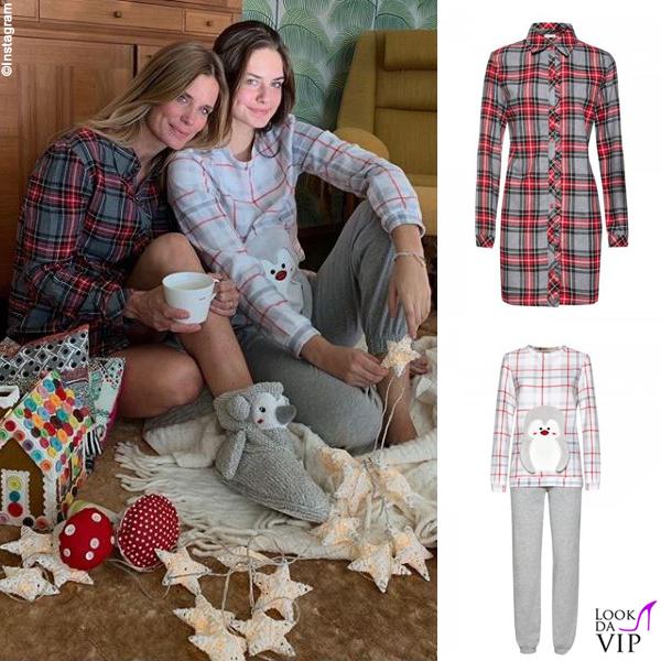 Filippa Lagerback e Stella Bossari pigiami Yamamay