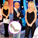Ilary Blasi GF Vip 14 puntata top pantaloni Dsquared2 scarpe Le Silla INSTAGRAM