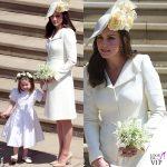 Kate Middleton Royal Wedding abito Alexander McQueen cappello Philip Treacy scarpe Jimmy Choo