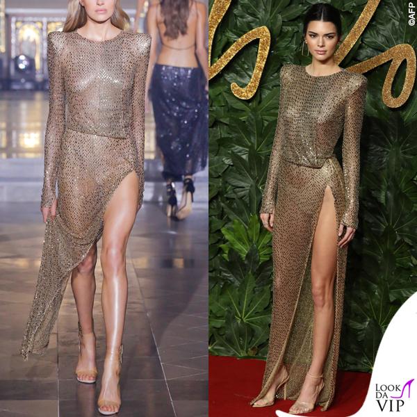 Kendall Jenner abito Julien Macdonald 6