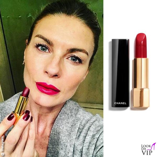 Martina Colombari rossetto Chanel Rouge Allure
